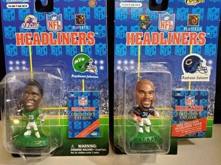 lot of 2   NFl HEADlINERS  KEYSHAWN JOHNSON and RASHAAN SAlAAM