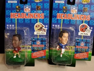 lot of 2 Nfl Headliners  JERRY RICE and JIM KEllY