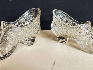 Pair of Crystal Slippers  Daisy and Button Shoes