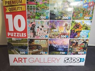 Art Gallery 5600 Total Pieces include 10 Puzzles