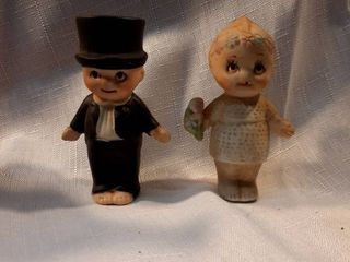 Vintage Groom and Bride Baby Dolls