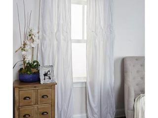Rizzy Home Torsades Collection White Cotton Curtain Panel