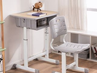 Adjustable Kids Desk and Chairs Set