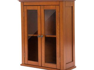 Wall Cabinet with Double Doors Brown   Glitzhome