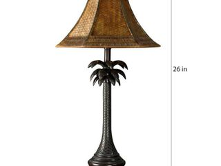 Copper Grove Prince Bronze Palm Tree Table lamp