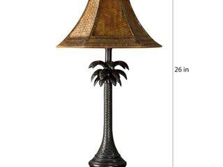 Copper Grove Prince Bronze Palm Tree Table lamp