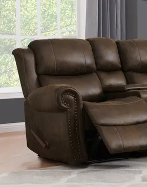 Copper Grove Wels 2 seat Rolled Arm Recliner loveseat