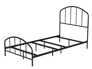 Queen Tolland Metal Bed Black   Hillsdale Furniture