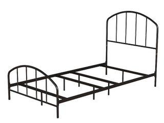 Queen Tolland Metal Bed Black   Hillsdale Furniture