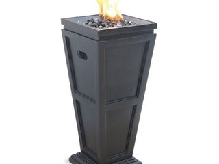 Endless Summer lP Gas Outdoor Fire Column  Slate Finish
