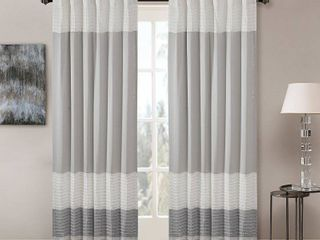 Madison Park Infinity Polyoni Pintuck Single Window Curtain Panel