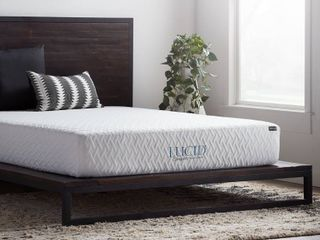 lucid 10in Collection Comfort Mattress   White   Size  Queen