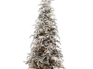 Flocked Balsam Pine Christmas Tree