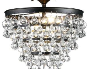 Toronto Metal Crystal lED Flush Mount lighting Fixture