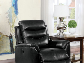 Ava Rectangle Power Motion leather Reclining Chair