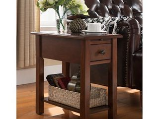 Copper Grove Ballingall Espresso Side Table w  Charging Station