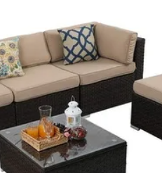 Gereja Outdoor Wicker Rattan Sectional Sofa by Havenside Home