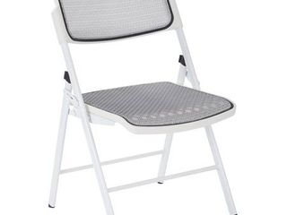 Deluxe Pro Grid Mesh Seat  amp  Back Folding Chair