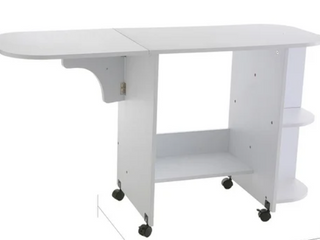 White Folding Sewing Machine Table