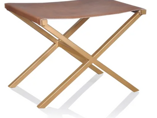 Director Style Accent Stool Ottoman