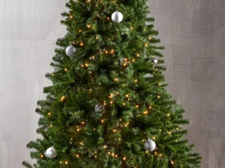 Noble Fir Pre lit Clear lED Hinged Artificial Christmas Tree by Christopher Knight Home
