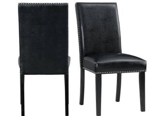 Picket House Furnishings Pia Faux leather Dining Side Chairs   Set of 2