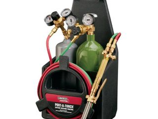 lincoln Electric Port A Torch Kit w  Oxygen   Acetylene Tanks
