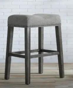The Gray Barn Overlook Upholstered Backless Saddle Seat Bar Stool