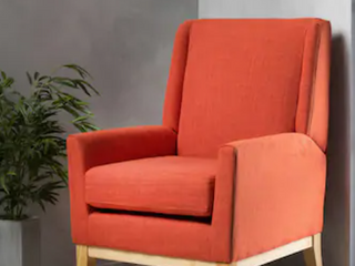Aurla Mid Century Fabric Accent Chair