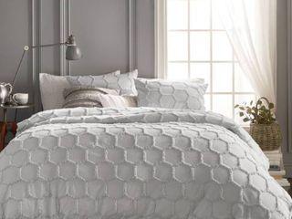 Murmur living Chenille Honeycomb Comforter  amp  Sham Set   King