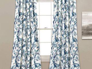 lush Decor Dolores Room Darkening Floral Curtain Panels   Set of 2
