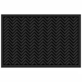Black Rectangular Door Mat