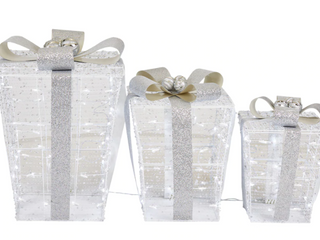 Holiday living 3 piece lighted Gift Boxes lED