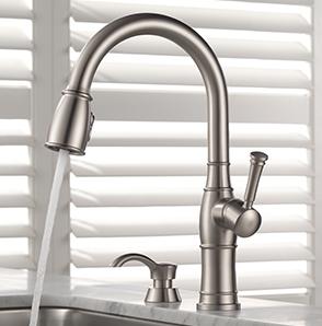 Valdosta Pull Down Kitchen Faucet Shield Spray