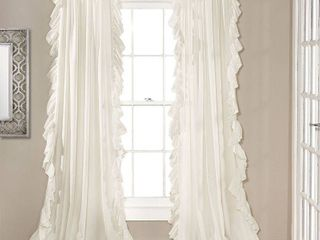 95in x 54in Reyna light Filtering Window Curtain Panels   lush Decor