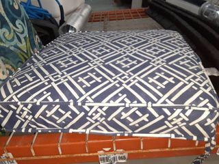 Blue and White Pattern Seat Cushion