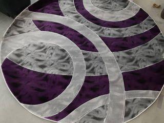 Alderidge Purple Grey Area Rug