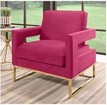 Cromwell Velvet Rose Accent Chair