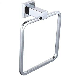 Chrome Square Wall Mount Towel Ring
