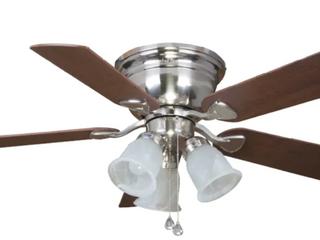 Ceiling Fan Brushed Nickel led Flush Mount light Kit  5 blade  Centreville 42in