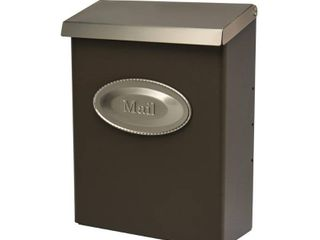 Solar Group DVKPBZ00 large Vertical Style lockable Wall Mount Mailbox  Bronze and Satin Nickel