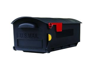 Gibraltar Plastic large Size Post Mount Mailbox Black