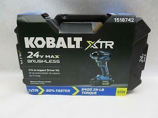 Kobalt Brushless Impact Driver Battery and Charger Included