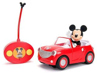 Jada Toys Disney Junior RC Mickey Mouse Club House Roadster Remote Control Vehicle 7  Glossy Red