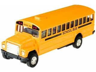Grin Studios Die Cast Pull Back School Bus