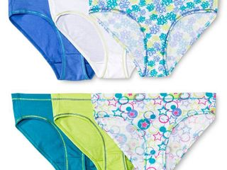 Girls  Hanes 6pk Hipster Briefs   Colors May Vary 10  MultiColored