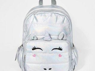 Girls  Backpack   Cat   Jack Silver  16