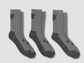 Men s Outdoor Heavyweight Crew Socks 3pk   C9 Champion 6 12  Gray
