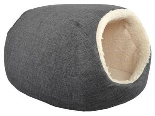 Pet Cave Bed   Gray   Small   Boots   Barkley