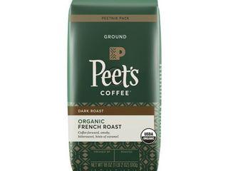 Peet s Coffee French Roast Organic Whole Bean Coffee  18 oz